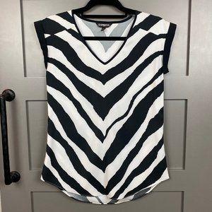 Express Zebra Print Silky Shirt